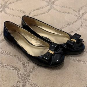 Coach Patent Leather Bow Flats